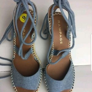 Rampage Heels Wedge Blue shoes Size 9